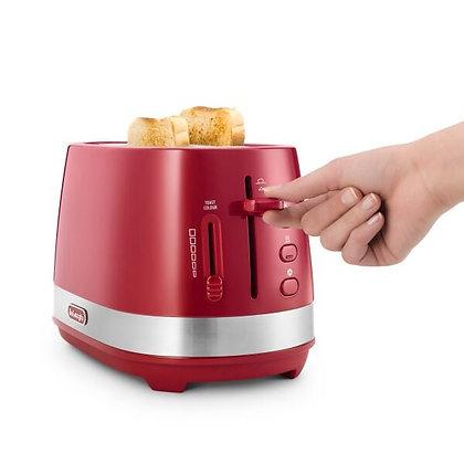 Delonghi Active Line 2 Slice Toaster - Red