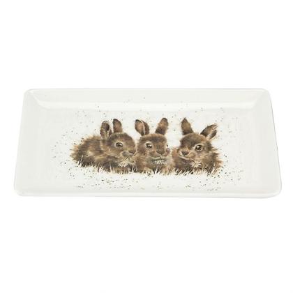 Royal Worcester Wrendale Rectangular Tray - Rabbits