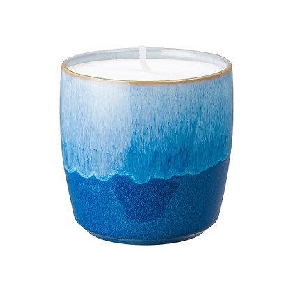 Denby Blue Haze Ceramic Candle Pot