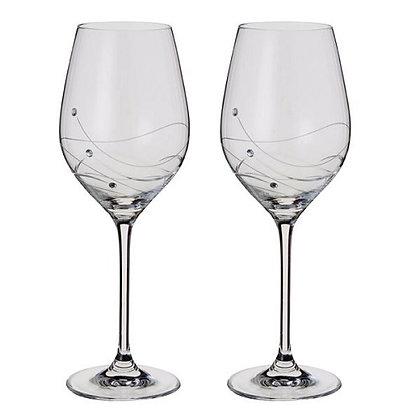 Dartington Crystal Glitz Wine Glass Pair