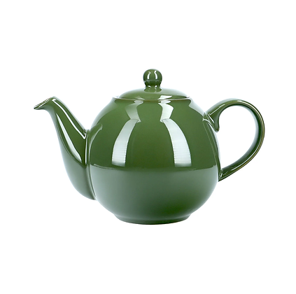 London Pottery 2 Cup Globe Teapot - Green