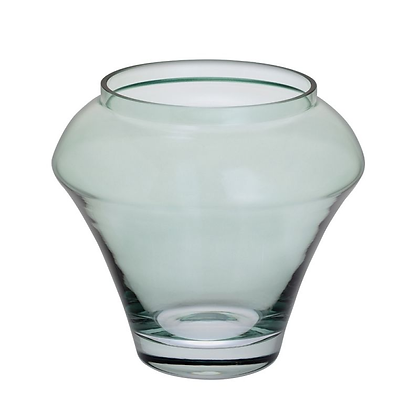 Dartington Crystal Deco Vase - Green