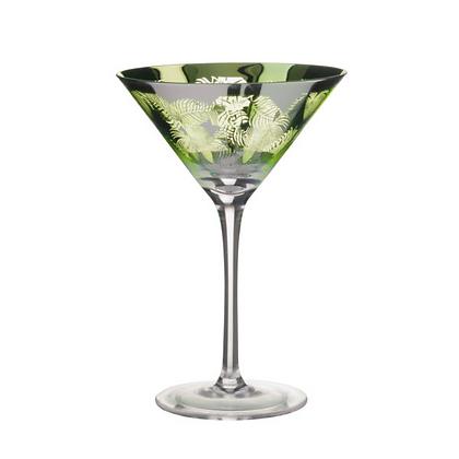 Tropical Leaves Martini Glass