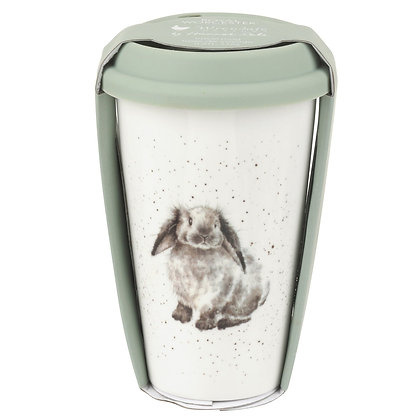 Royal Worcester Wrendale Designs Rabbit Travel Mug with Silicone Lid