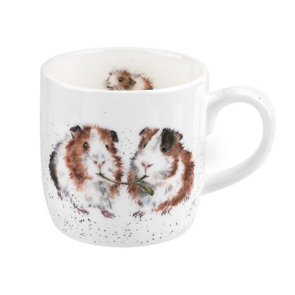 Royal Worcester Wrendale 'Lettuce be Friends' Guinea Pig Fine Bone China Mug