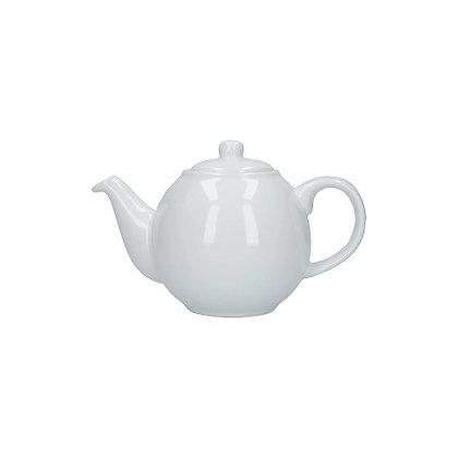London Pottery 2 Cup Globe Teapot - White