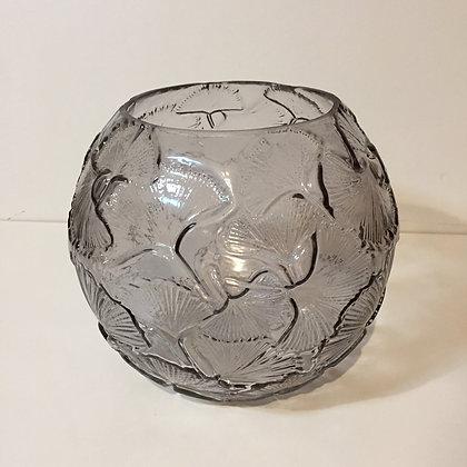 Grey Ginkgo Globe Vase
