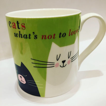 Cats What's Not To Love? Mug Green