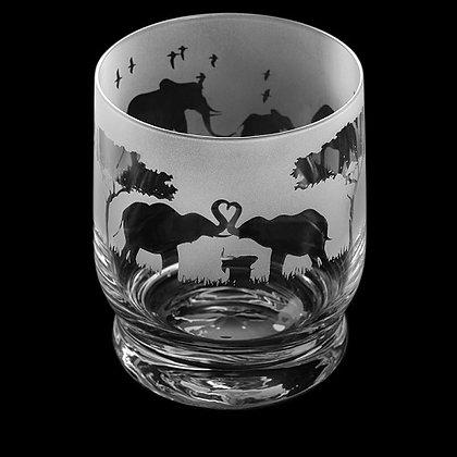 Dartington Aspect Elephant Parade Glass Tumbler