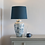 Thumbnail: Table Lamp Exotic Bird With Blue Shade