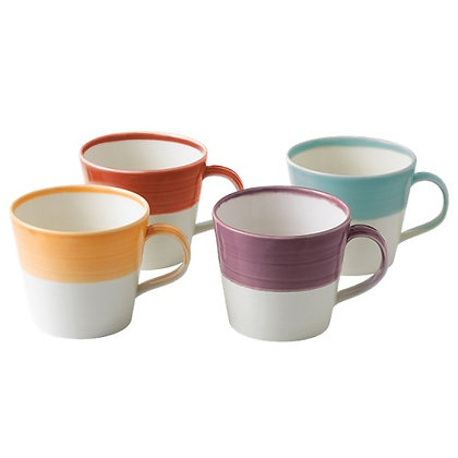 Royal Doulton 1815 Bright Large Mugs set of Four