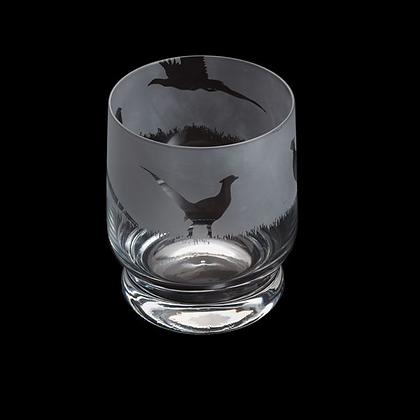 Dartington Aspect Pheasant Glass Tumbler