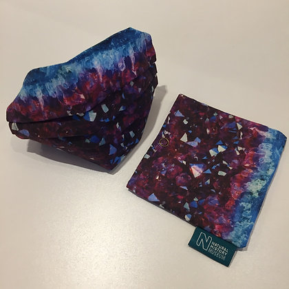 Museums Face Mask and Pouch - Amethyst