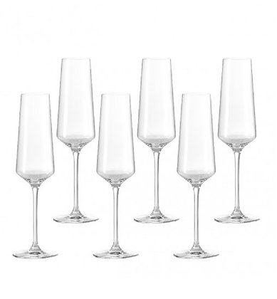 "Leonardo ""Puccini"" Collection Champagne Flutes set of six"