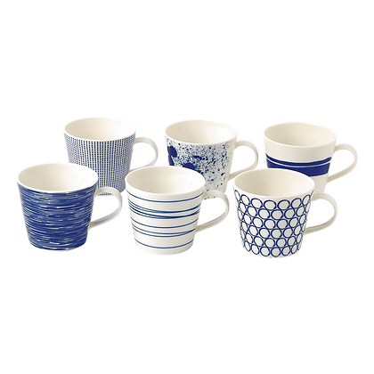 Royal Doulton Pacific Blue Set of 6 Mugs