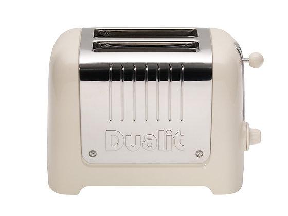Dualit Lite 2 Slice Toaster-Canvas White