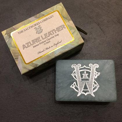 Saltworks Large Bar Soap - Azure Leather