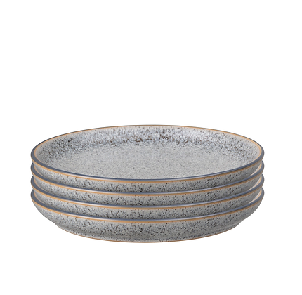 Denby Studio Grey Medium Plates Set x4