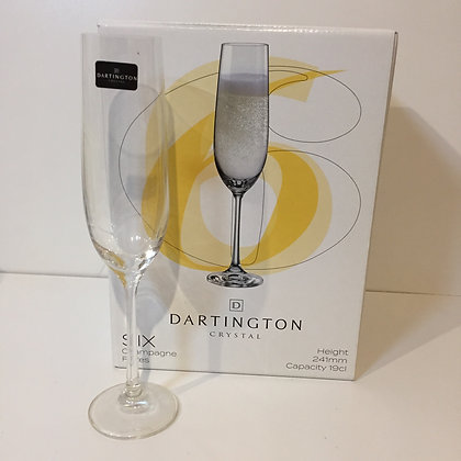 Dartington Crystal, Six Champagne Flutes