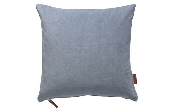 Feather Filled Velvet Cushion-Sky
