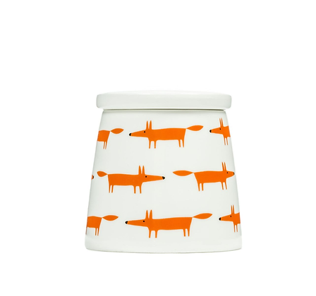 Scion Living Mr Fox Large Storage Jar - Orange Multi