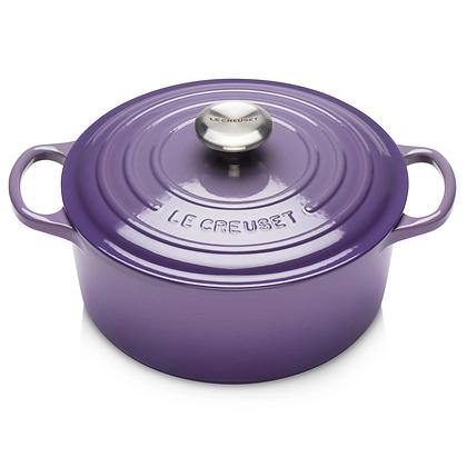 Le Creuset 28cm Cast Iron Round Casserole - Ultra Violet