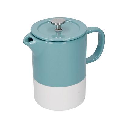 La Cafetière Barcelona 6 Cup Ceramic Cafetiere - Retro Blue
