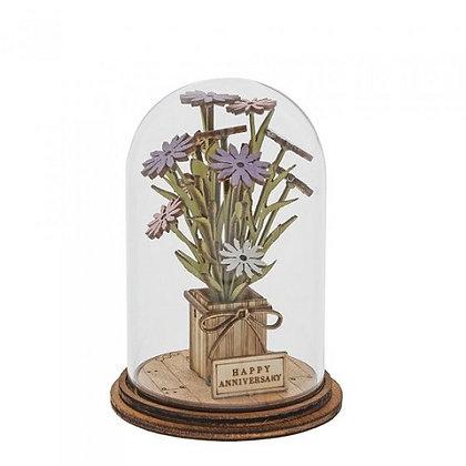 Kloche Ornament - Happy Anniversary Flowers