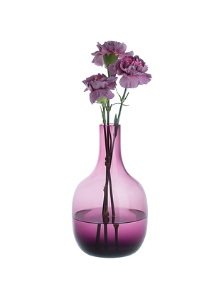 Dartington Crystal Aurora Vase - Amesthyst