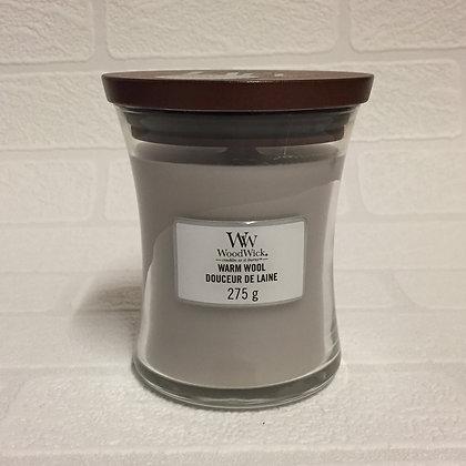 Woodwick Medium Candle - Warm Wool