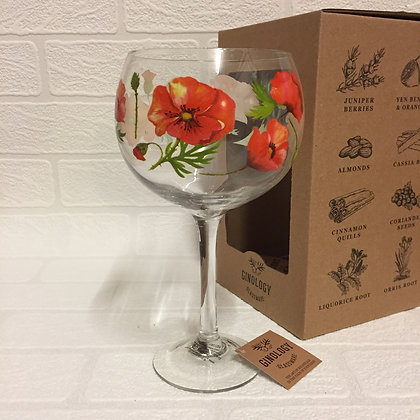 Ginology Gin Copa Glass - Poppies
