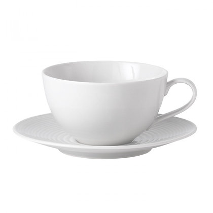 Gordon Ramsay Maze White Breakfast Cup and Saucer front view