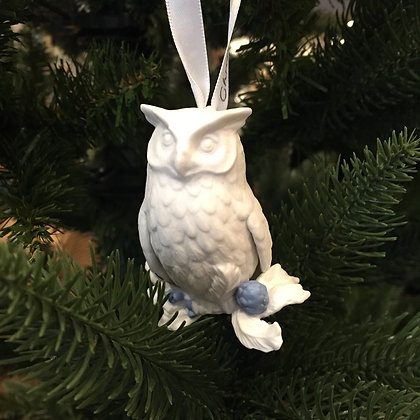 Wedgwood Christmas Tree Decoration - Owl