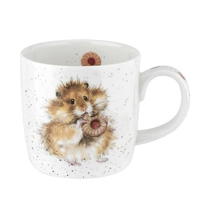 Royal Worcester Wrendale 'Diet Starts Tomorrow' Hamster Fine Bone China Mug
