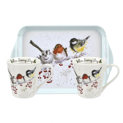 Pimpernel Wrendale Designs Mug and Tray Set - One Snowy Day