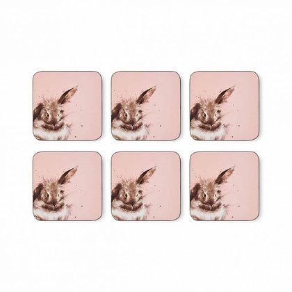 Pimpernel Wrendale Designs Set of 6 Rabbit Coasters