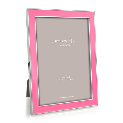 Addison Ross 5x7 Photo Frame - Electric Pink and Silver