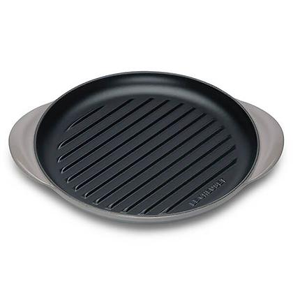 Le Creuset Cast Iron Round Grill - Flint