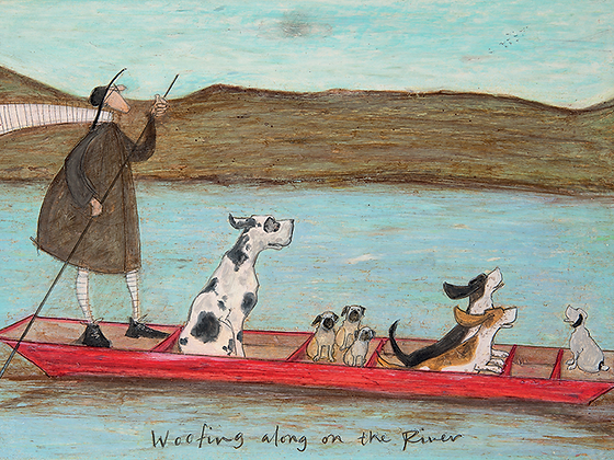 Canvas Art - Sam Toft 'Woofing Along the River'