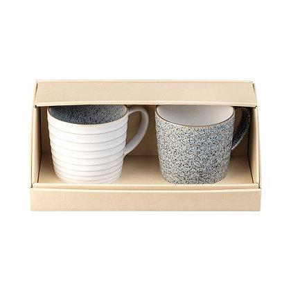 Denby Studio Grey set of2 Ridged Mugs