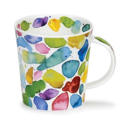 Dunoon Lomond Mug - Green Blobs