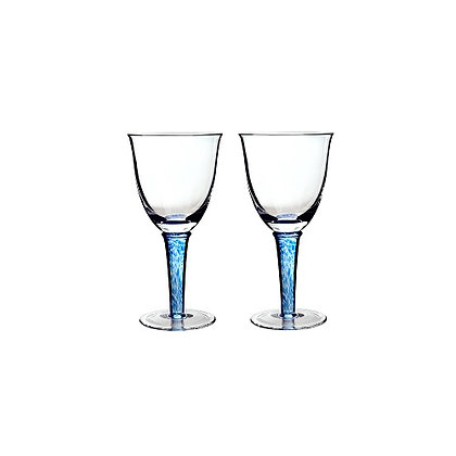 Denby Imperial Blue White Wines Set of 2