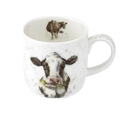Royal Worcester Wrendale 'Moooo' Cow Fine Bone China Mug