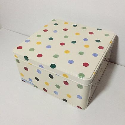 Elite Tins Emma Bridgewater Polka Dot Large Square Cake Tin