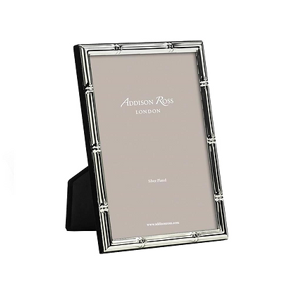 """Addison Ross Silver Plate Frame - Bamboo 5""""x7"""""""