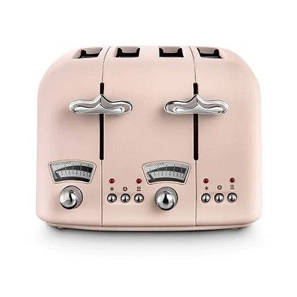 Delonghi Argento Flora Toaster - Peony Rose