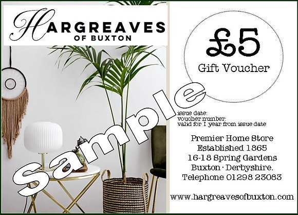 Gift Voucher (Use In Store) - £5