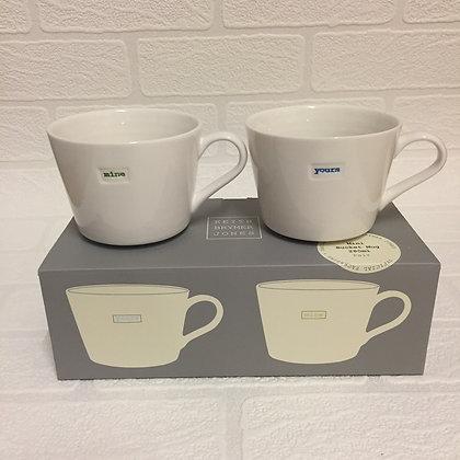 Keith Brymer Jones Small Mug Set - Yours Mine