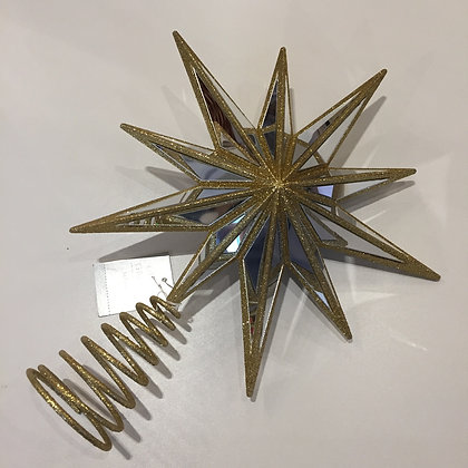Gisela Graham Decoration - Gold Tree Top Star
