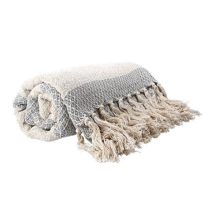 Gisela Graham Grey Diamond Throw